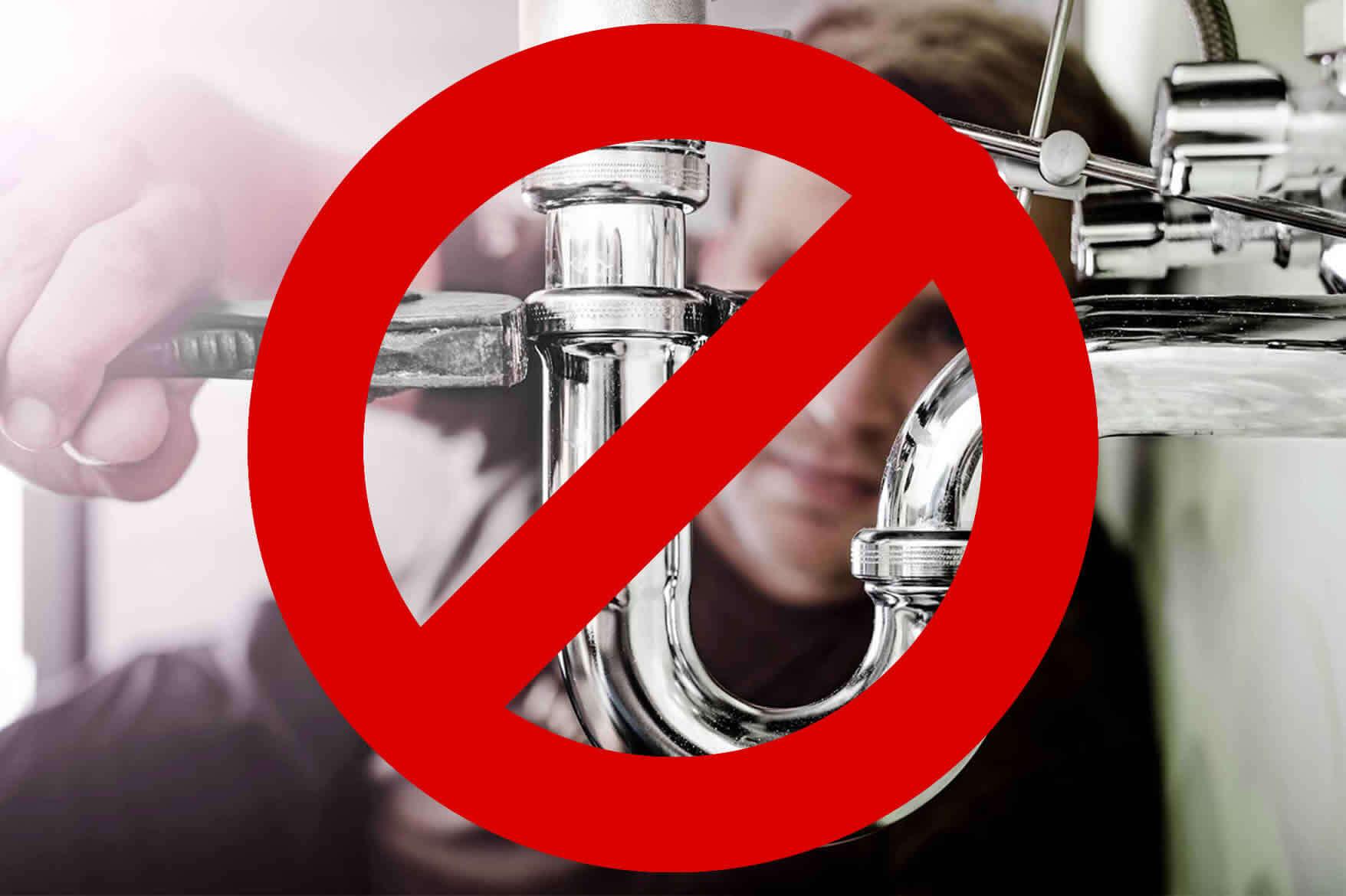 Plumbing Problems You Should NOT DIY